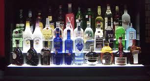 led lighted bar shelves bar bottle display contemporary rack for creepingthyme info