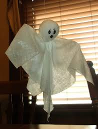stiff paper towel ghosts kids u0026 glitter