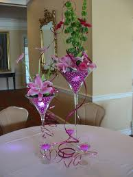 Martini Glass Vase Flower Arrangement Large Margarita Glass Centerpieces Centerpiece Using Martini