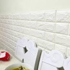 3d Wall Panels India Amazon Com 3d Wall Panels Stickers White Brick Self Adhesive