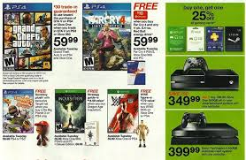 black friday target 2ds target 11 16 11 22 video game ad with b1g1 25 off gaming cards