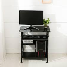 Corner Laptop Desks For Home Black Pc Corner Computer Desk Home Office Laptop Table Workstation