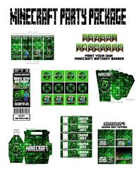minecraft party invites personalized minecraft party package bonkers4bottlecaps