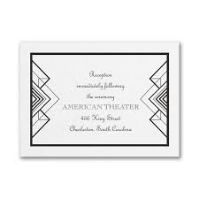 art deco gatsby wedding invitations little flamingo