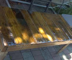 Patio Table Made From Pallets by Diy Outdoor Table