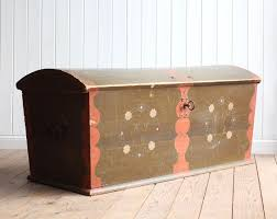fantastic huge vintage antique swedish painted marriage chest