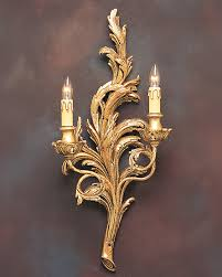 French Country Sconces Gold Leaf Sconce And French Style Gold Sconce