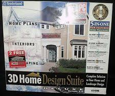 broderbund 3d home design suite deluxe version 3 0 complete ebay