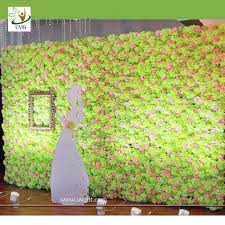 wedding backdrop green uvg green artificial and hydrangea flower wall for wedding