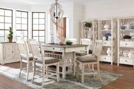 counter height dining room sets signature design by ashley bolanburg white and gray rectangular