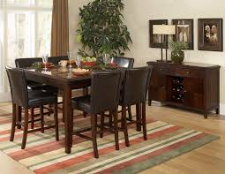 High Top Kitchen Table And Chairs Dining Room Cool Design For Dining Room Areas With 8 Seat Black