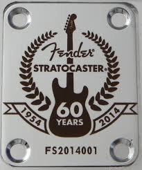 60th anniversary plates fender 60th anniversary