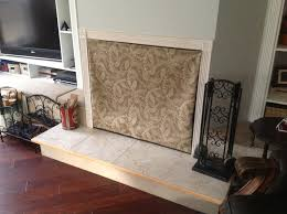 fireplace cover up fireplace covers for wood burning fireplace insulated decorative