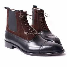 s boots wedge s boots custom handmade shoes genuine calf leather semi brogue