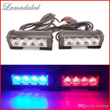 Led Emergency Dash Lights 2x4 Led Police Strobe Lights Vehicle Strobe Light Car Warning