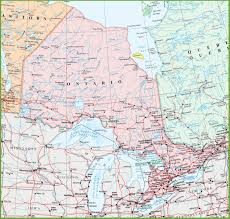 Map Canada Provinces by Ontario Province Maps Canada Maps Of Ontario On Ont