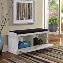 Storage Bench With Baskets Gorgeous White Entryway Bench With Storage White Storage Bench