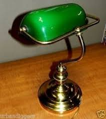 Desk Lamp Shade Replacement Green Glass Shade Bankers Lamp Foter
