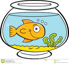 cartoon fish in a fish bowl stock photography image 28640992