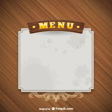 menu template grunge menu template free vector 123freevectors