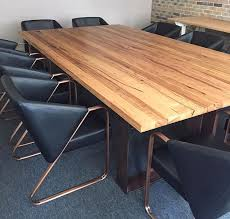 Timber Boardroom Table The Junk Map Retrograde Furniture 2 The Junk Map