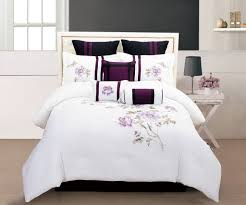 Black And Purple Comforter Sets Queen Total Fab Purple Black And White Bedding Sets Drama Uplifted