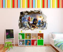Bilder F S Schlafzimmer Gr Lego Ninjago 3d Effekt Zerst Rten Loch In Wand Vinyl Aufkleber