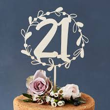 number cake topper personalised floral number birthday wooden cake topper by