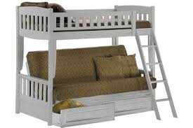 white bunk bed sofa wood futon bunk sofa bed white the futon shop