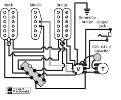 wiring diagram 1 single coil pickup wiring diagram and schematic