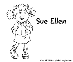 Arthur Print Coloring Pages Pbs Kids Coloring Characters