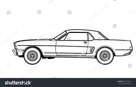 sports car drawing muscle car drawing stock vector 312843551 shutterstock