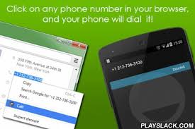 how to make your number on android call from browser android app playslack call from browser