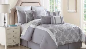 Gray And White Rooms White Bed Set Amazoncom Chic Home Duke 10 Piece Comforter Set