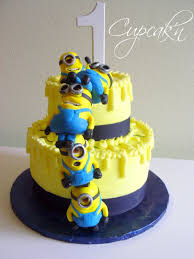 Despicable Me Halloween Decorations Birthday Cakes Despicable Me Cake With Stacked Mmf Minions