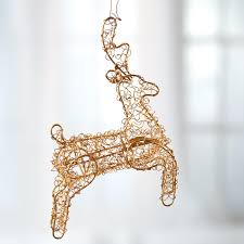 gold wire mesh reindeer ornament table decor and