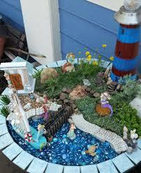 Fairy Gardens Ideas by Best Gardening Ideas Mermaid And Beach Themed Fairy Garden 43