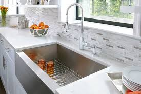mirabelle kitchen faucets bliss glass quartz linear blend mosaics tile