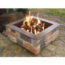 Outdoor Firepit Gas Square Pits Firescapes Smooth Ledge Gas Pit