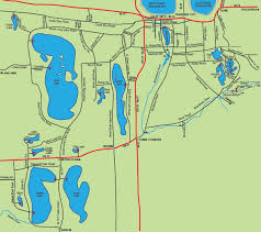 Michigan County Map With Roads by Inland Lakes Fishing Map Grand Traverse County