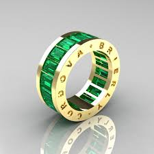 modern mens wedding bands emerald mens wedding band mens modern 14k yellow gold emerald