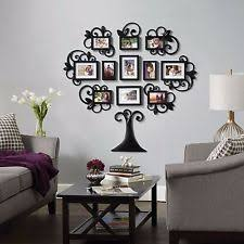 Home Decor Photo Frames 12 Family Tree Photo Picture Frame Collage Set Black Wall