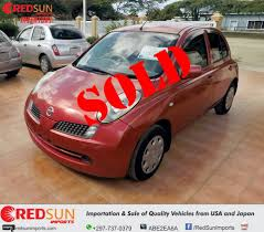 nissan micra japanese import we are sold out on the nissan marches red sun imports aruba