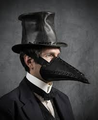plague doctor hat corax riveted plague doctor half mask in black
