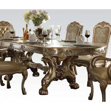 acme 63150 dresdan gold dining set contemporary dinning room