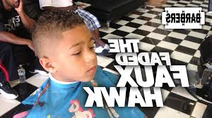black toddler boy haircuts how to kid39s faded faux hawk mohawk