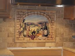 Kitchen Tile Backsplash Murals by Ceramic Tile Mural Tuscan Wine By Broughton Kitchen