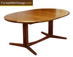 oval teak dining table danish teak oval dining table