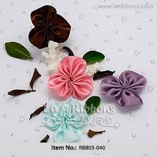 satin ribbon flowers light green made satin ribbon flower view satin ribbon