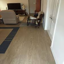 renovating and laying floating floorboards tiles woodland